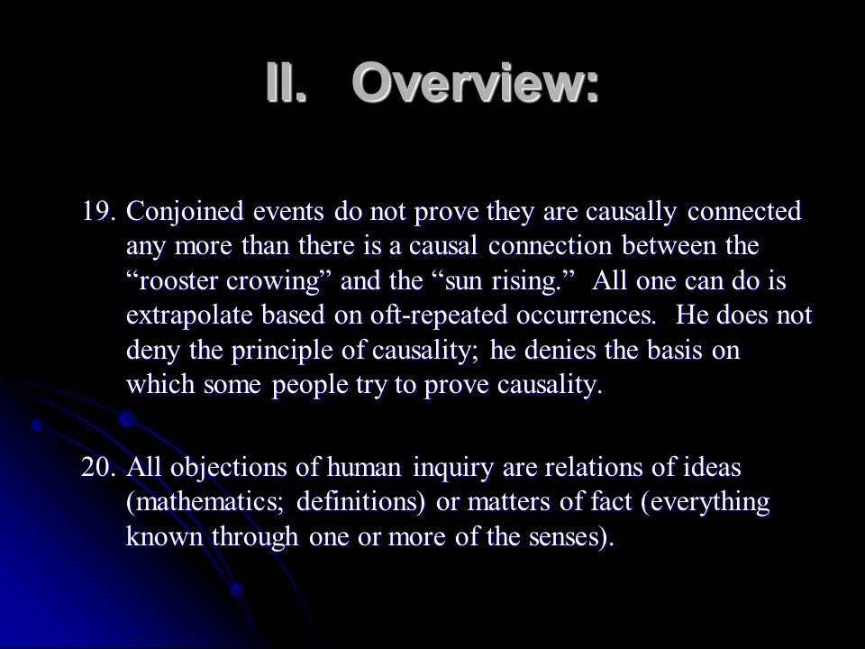 II. Overview: