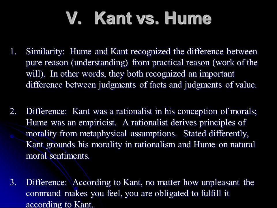 V. Kant vs. Hume