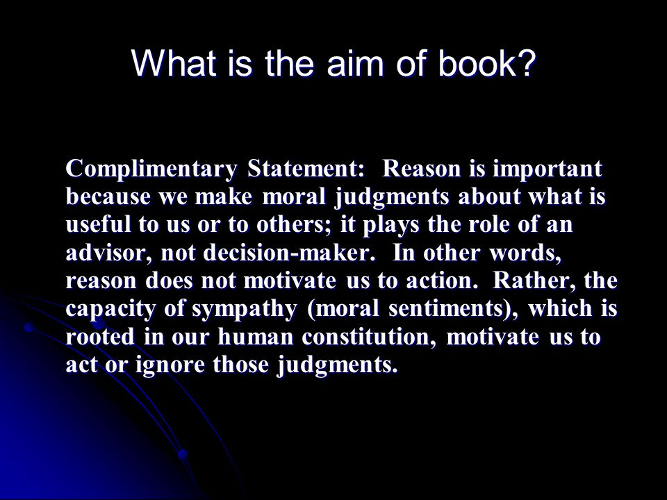 What is the aim of book