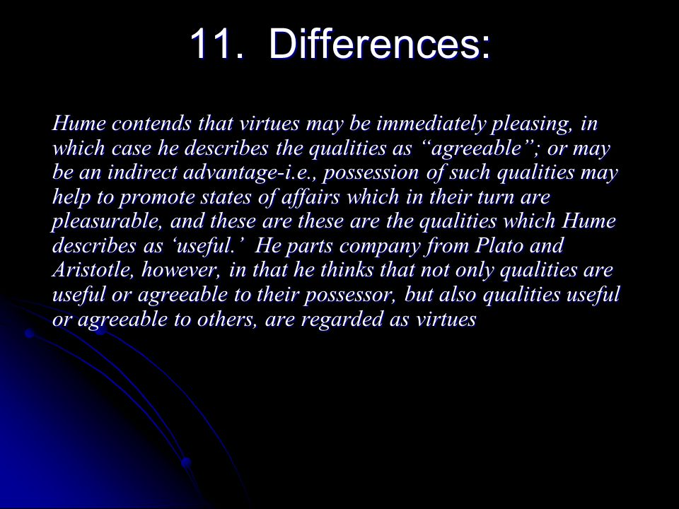 11. Differences: