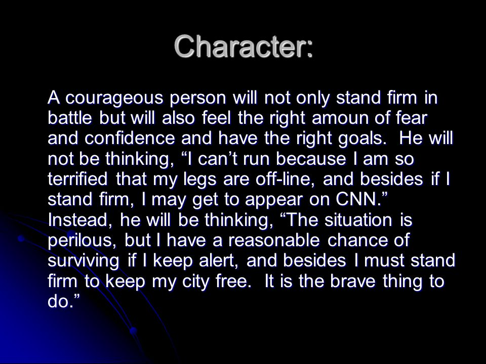 Character:
