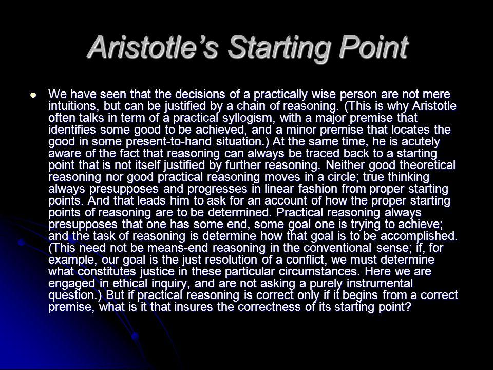 Aristotle's Starting Point