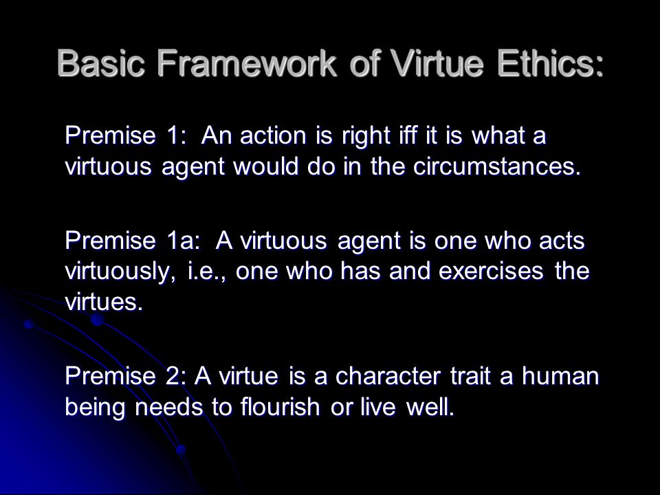 Basic Framework of Virtue Ethics: