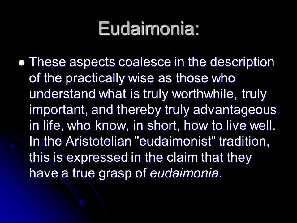 Eudaimonia: