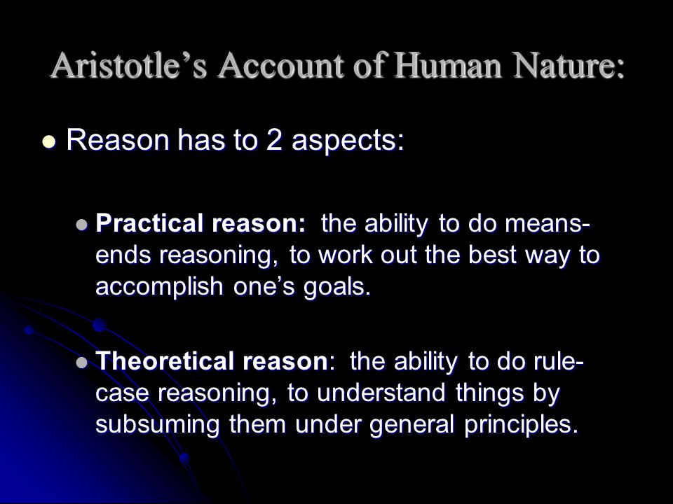 Aristotle's Account of Human Nature: