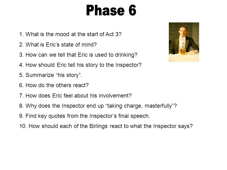 Phase 6 1. What is the mood at the start of Act 3