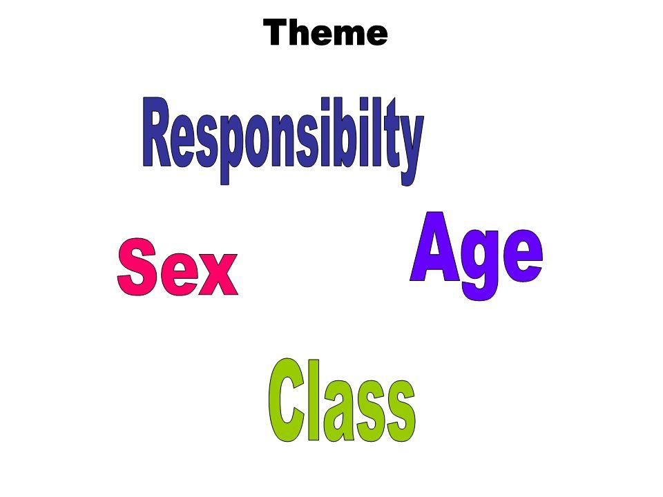 Theme Responsibilty Age Sex Class