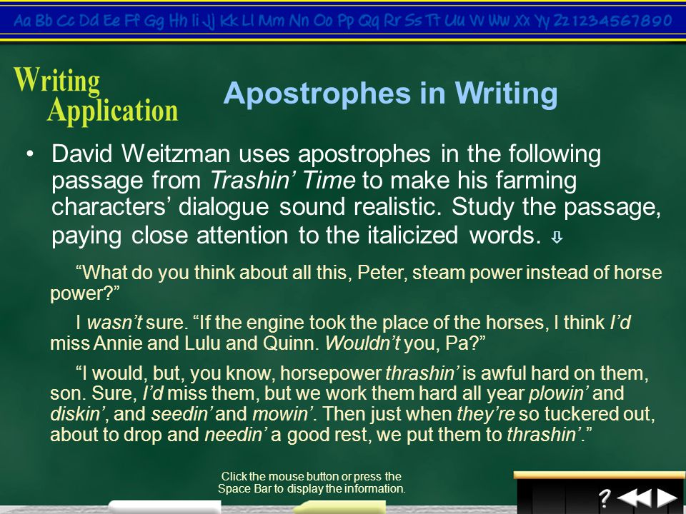 Apostrophes in Writing
