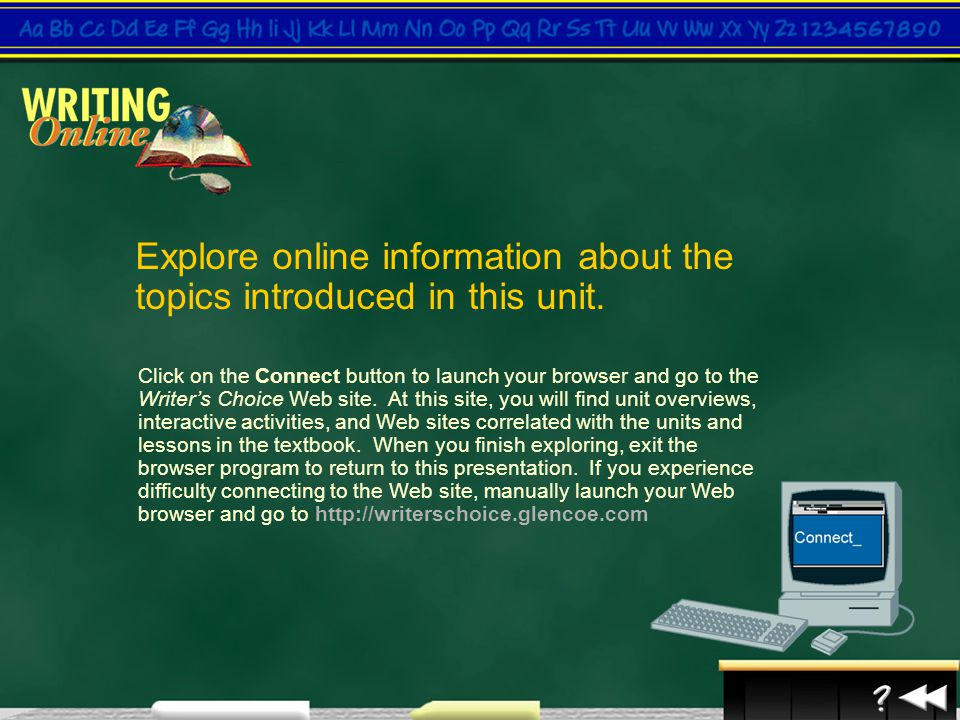 Explore online information about the topics introduced in this unit.