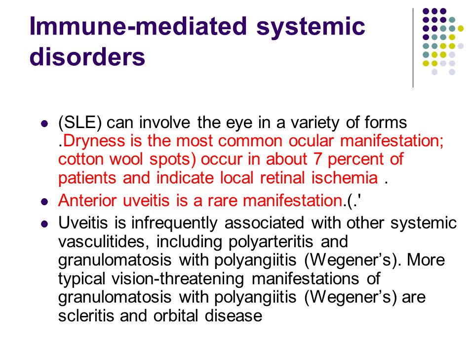 Immune-mediated systemic disorders