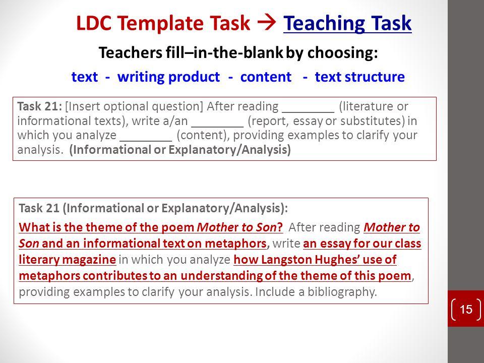 LDC Template Task  Teaching Task