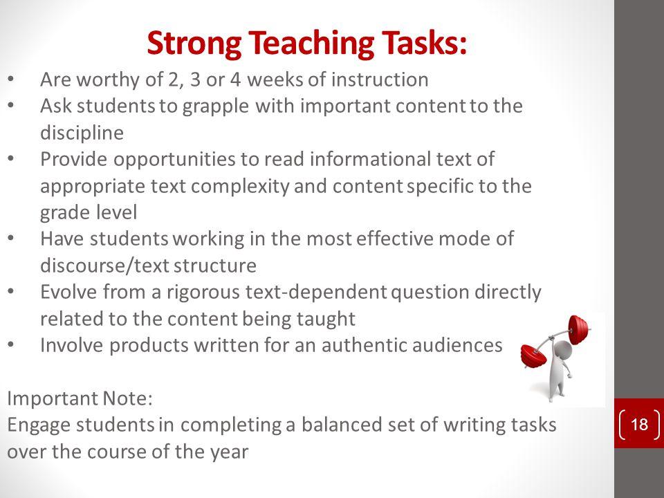 Strong Teaching Tasks: