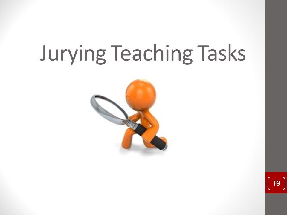 Jurying Teaching Tasks