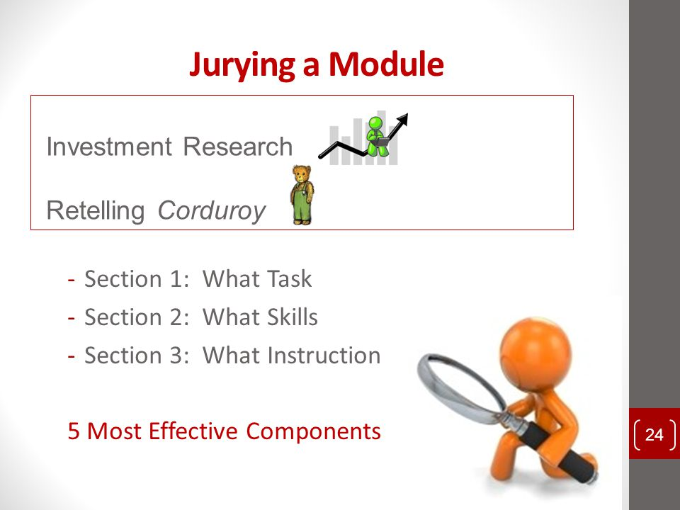 Jurying a Module Investment Research Retelling Corduroy