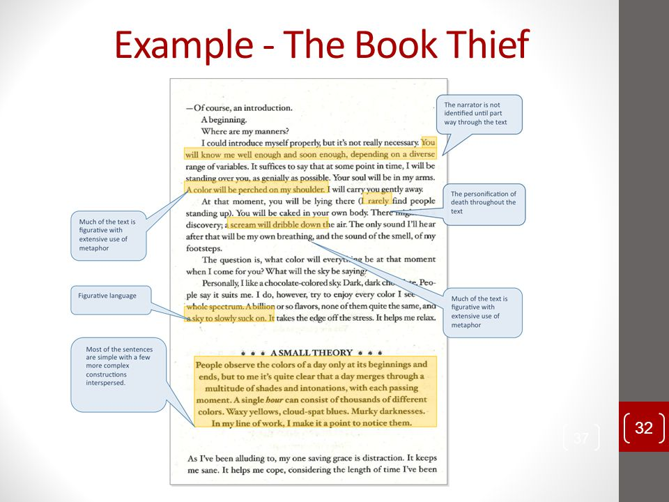 Example - The Book Thief