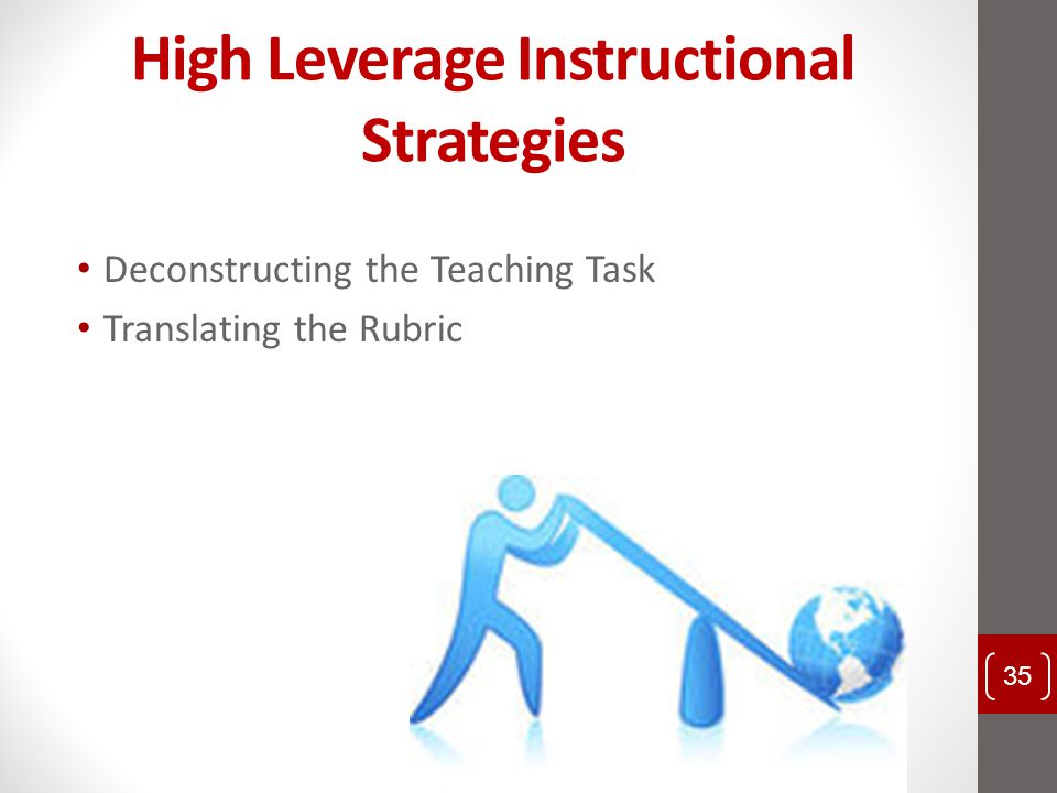 High Leverage Instructional Strategies