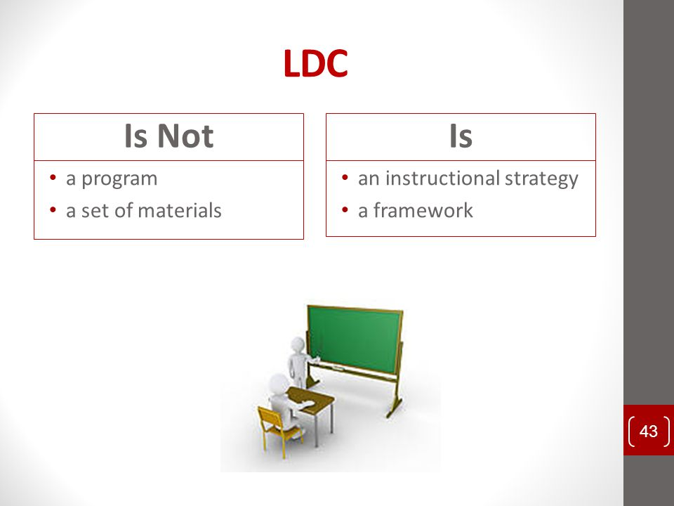 LDC Is Not Is a program a set of materials an instructional strategy
