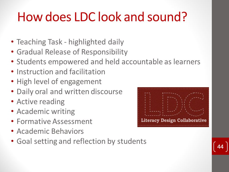 How does LDC look and sound