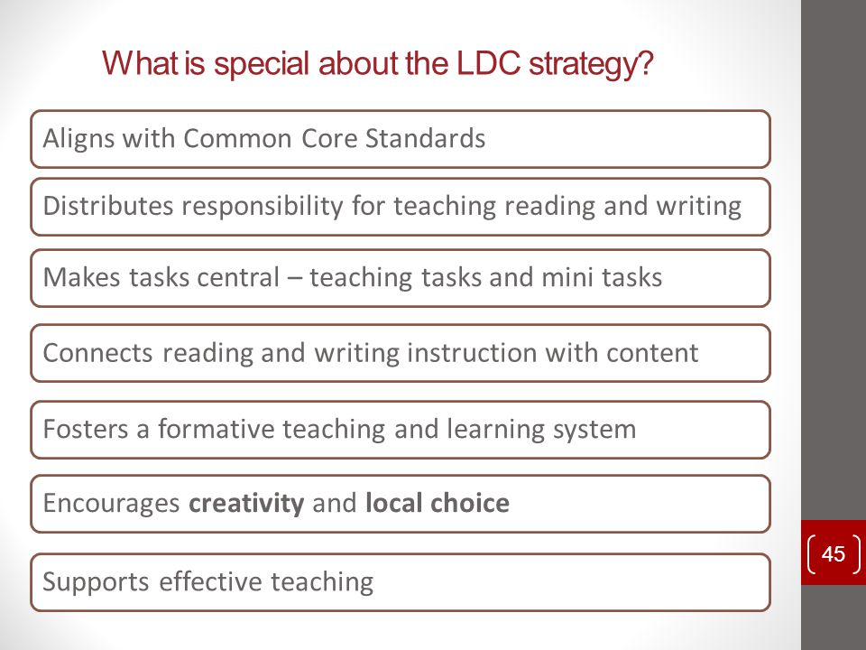 What is special about the LDC strategy
