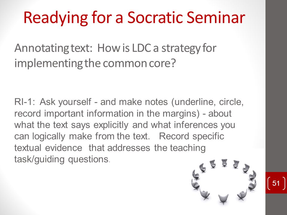 Readying for a Socratic Seminar