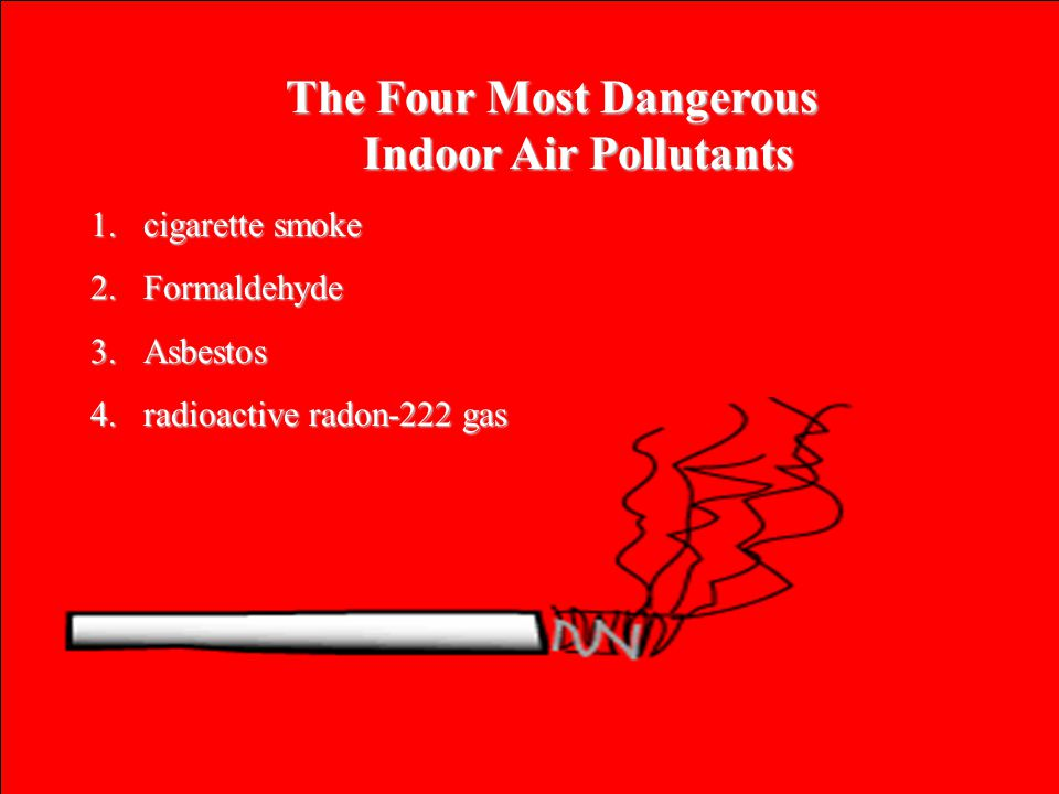The Four Most Dangerous Indoor Air Pollutants