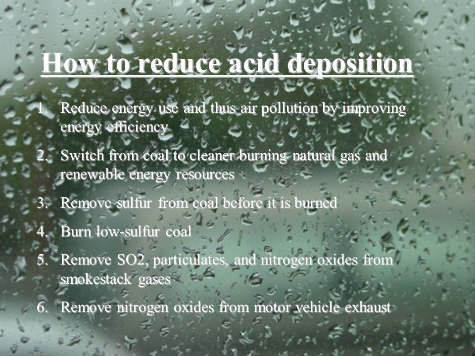 How to reduce acid deposition