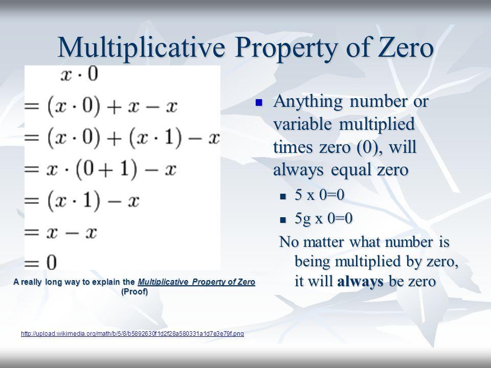 Multiplicative Property of Zero