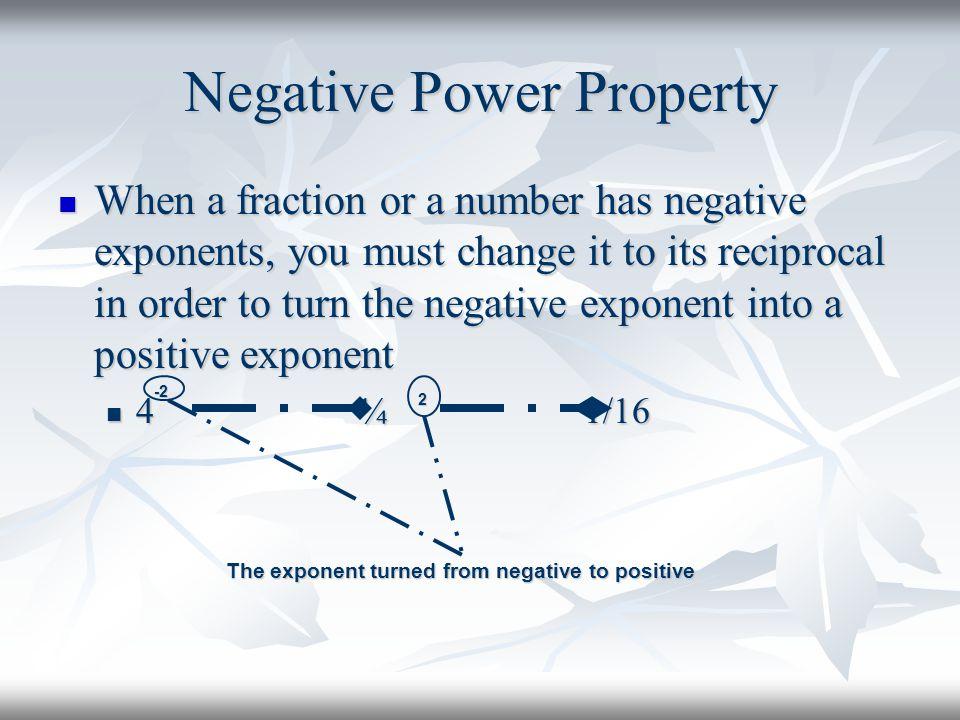 Negative Power Property