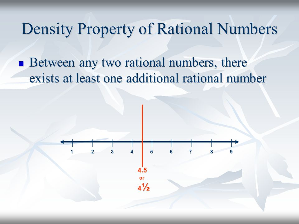 Density Property of Rational Numbers