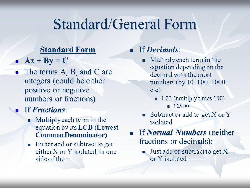 Standard/General Form