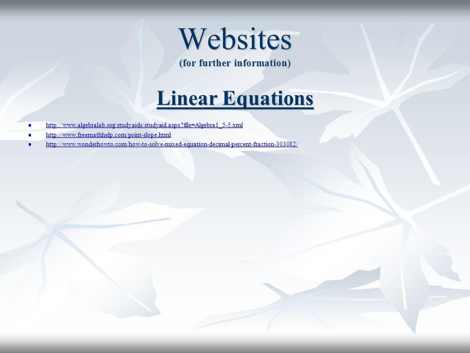 Websites (for further information)