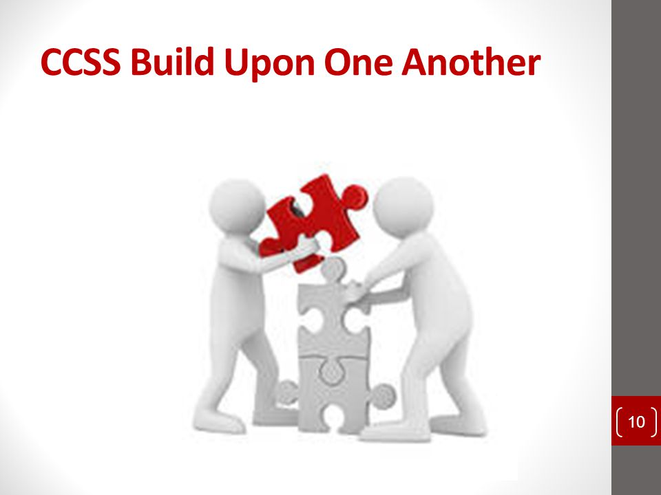CCSS Build Upon One Another