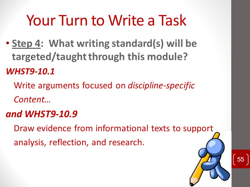 Your Turn to Write a Task