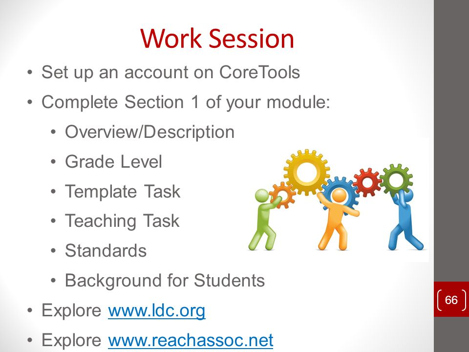 Work Session Set up an account on CoreTools