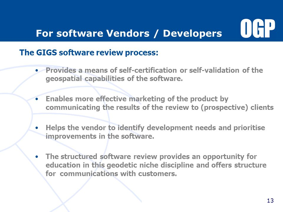For software Vendors / Developers
