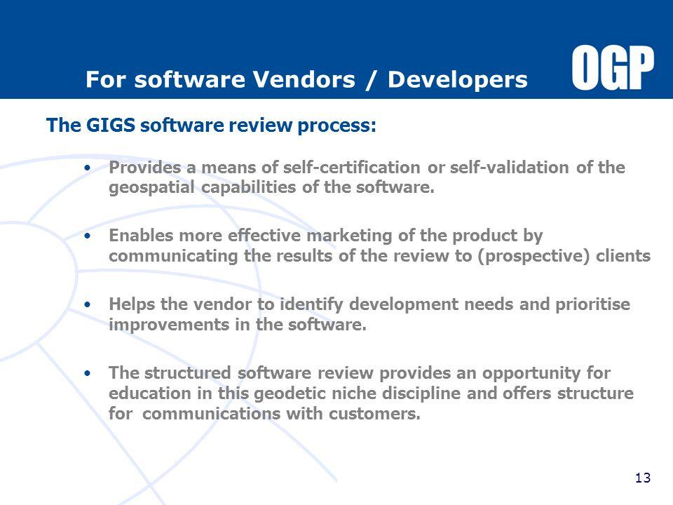 For software Vendors / Developers