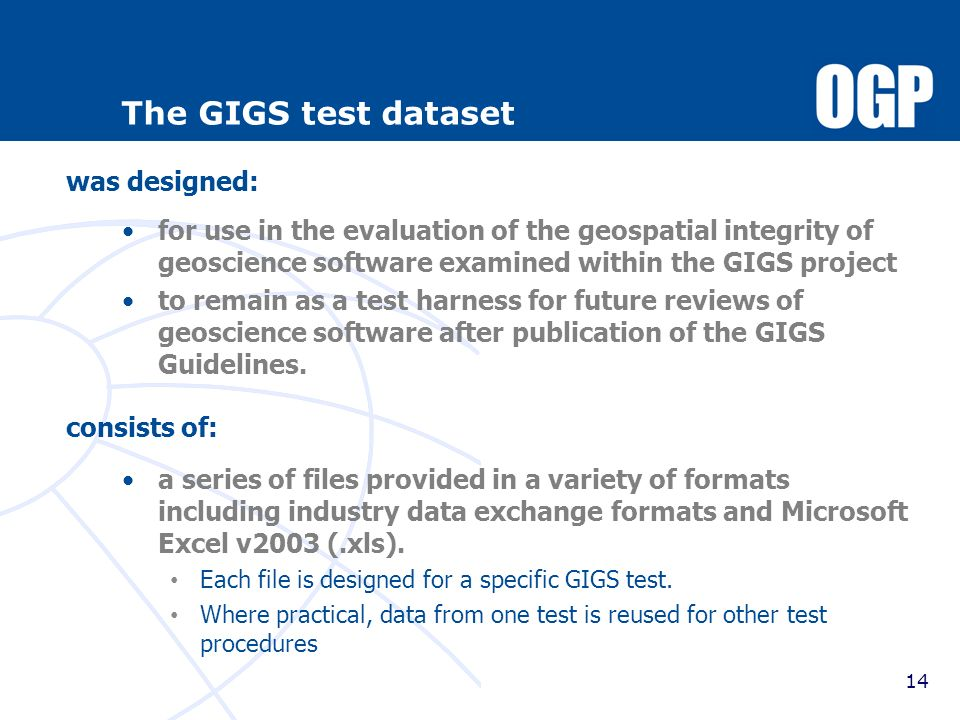 The GIGS test dataset was designed: