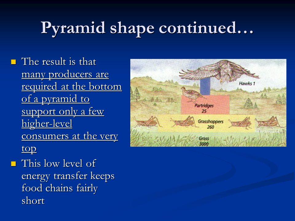 Pyramid shape continued…