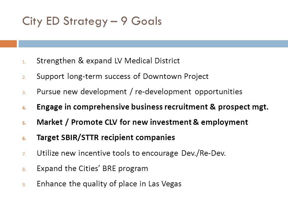 City ED Strategy – 9 Goals