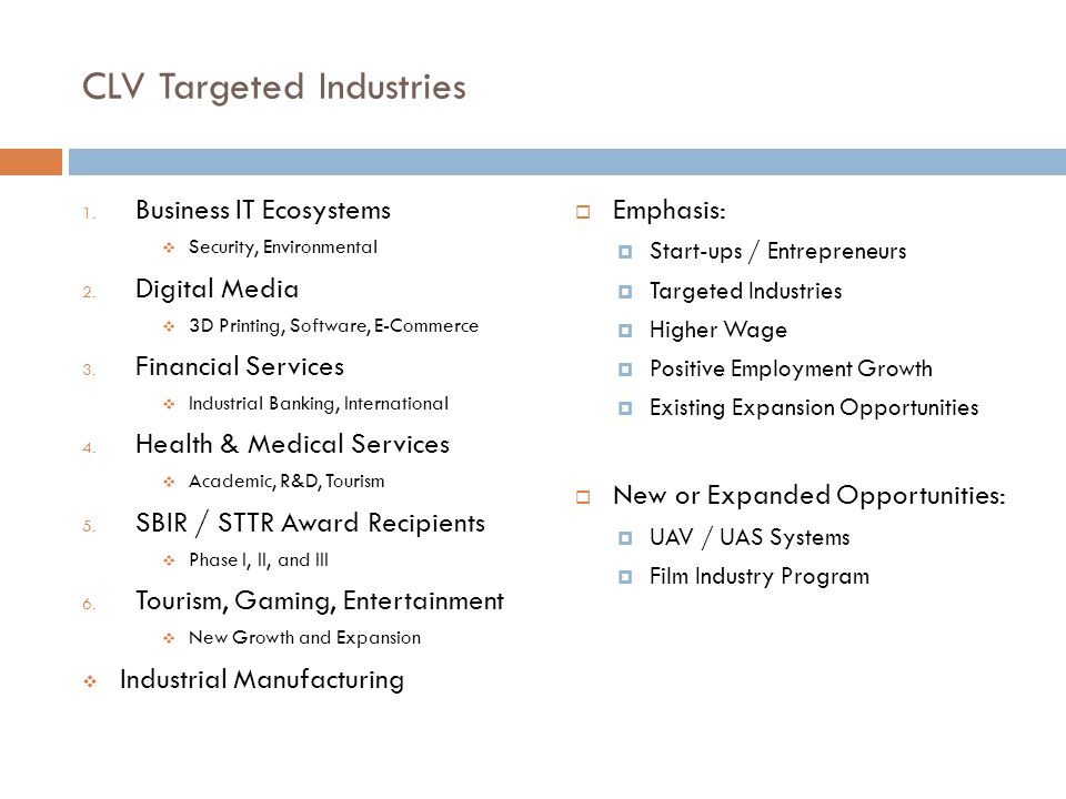 CLV Targeted Industries