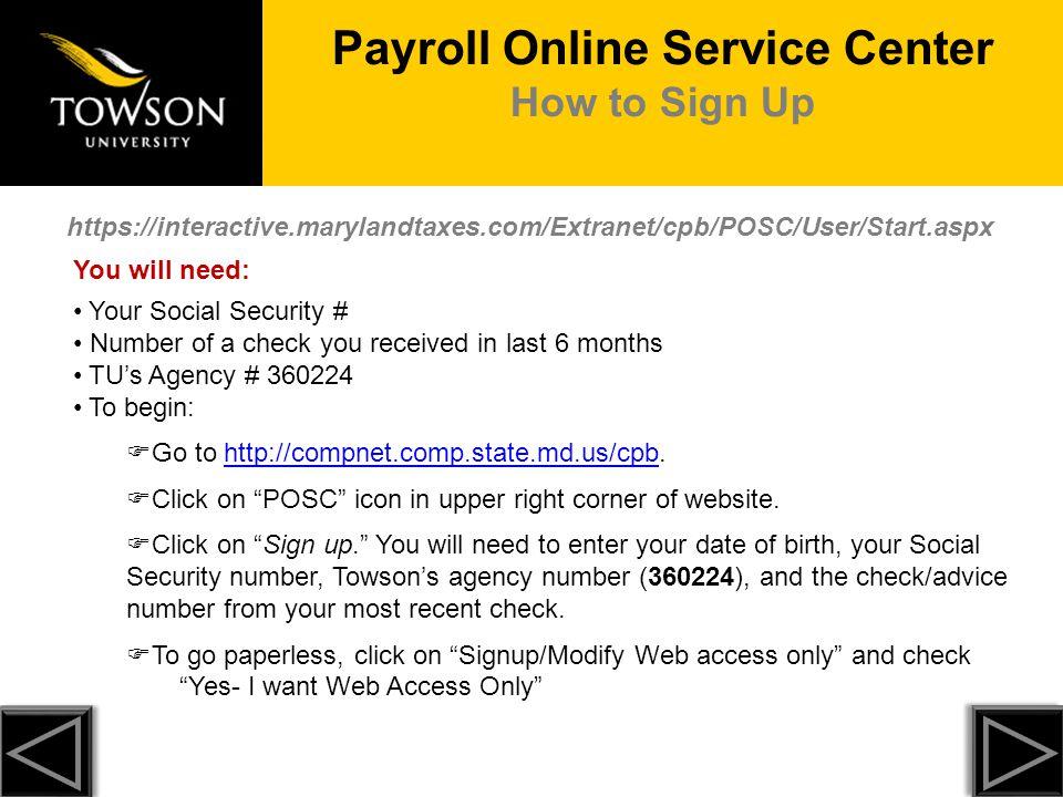 Payroll Online Service Center