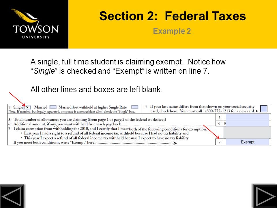 Section 2: Federal Taxes
