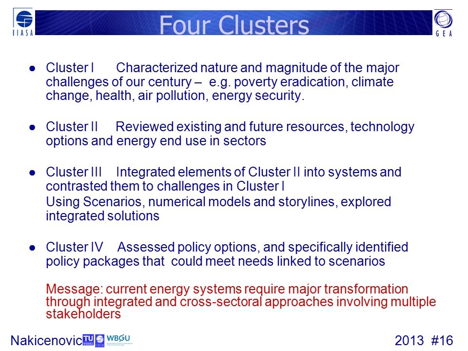 Four Clusters