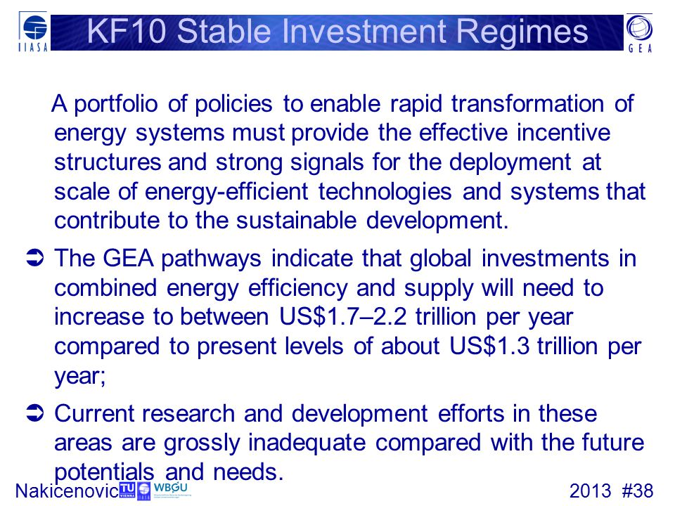 KF10 Stable Investment Regimes