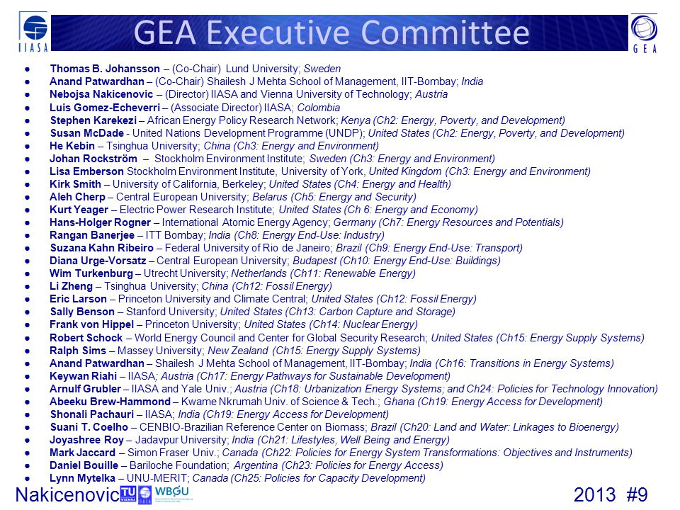 GEA Executive Committee