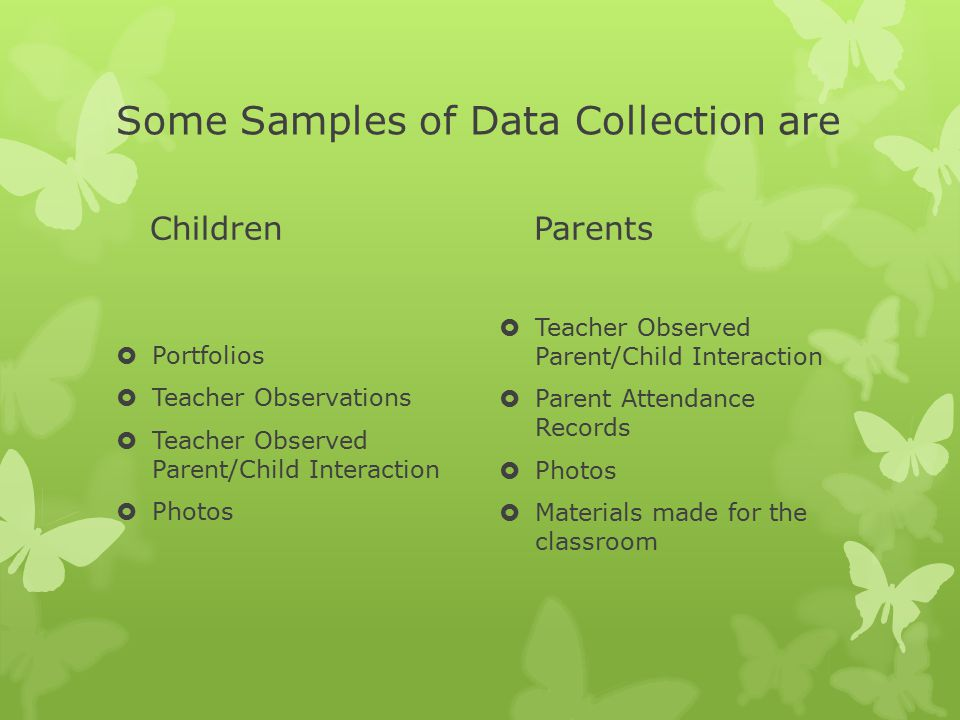Some Samples of Data Collection are