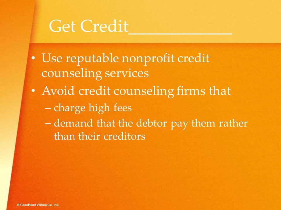 Get Credit____________