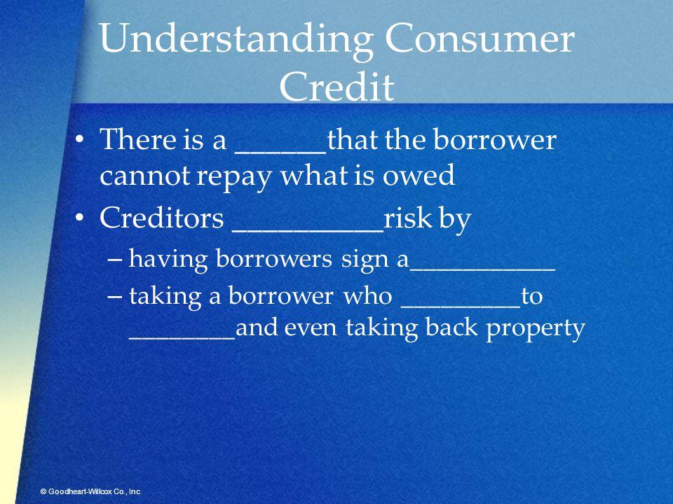 Understanding Consumer Credit