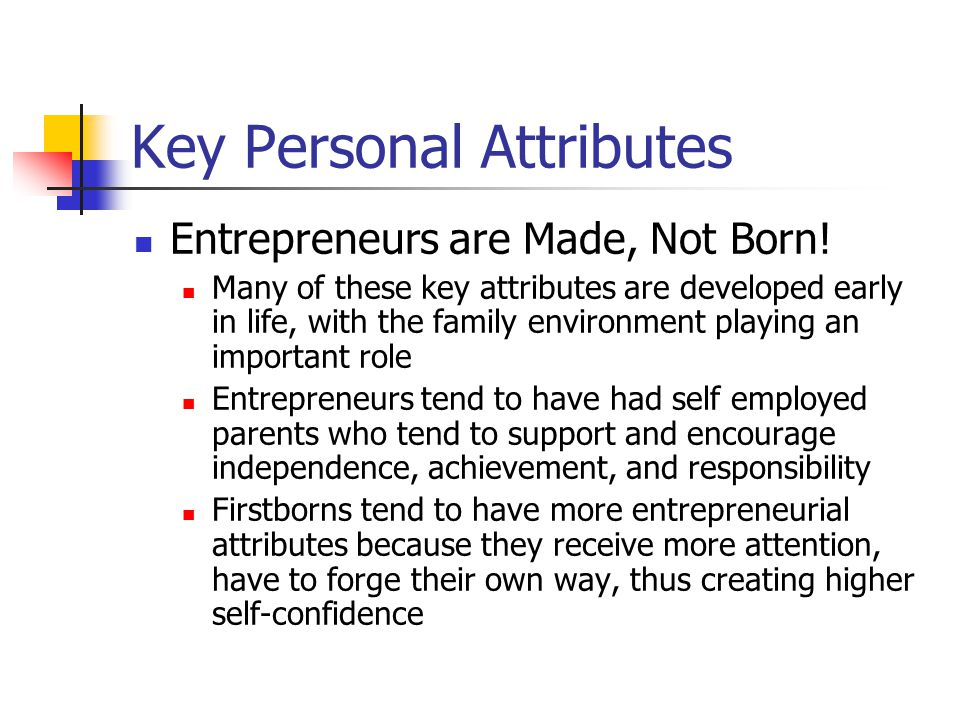 Key Personal Attributes