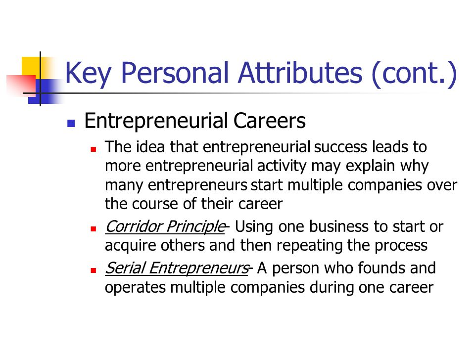 Key Personal Attributes (cont.)